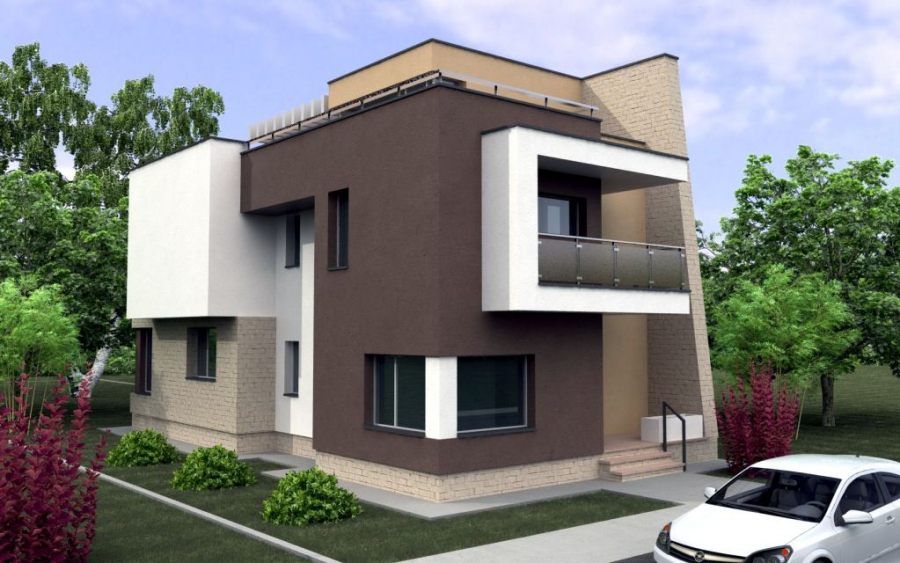 Proyecto arquitect nico y planos for Planos de chalets modernos